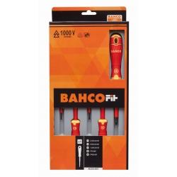 BAHCO Bahcofit Csavarhúzó Klt. Vde 100v-Os, 5-Db-Os,Schlitz/Ph
