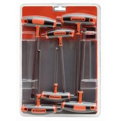 BAHCO T-nyelű imbuszkulcs készlet, 3, 4, 5, 6, 8, 10mm, 6 részes