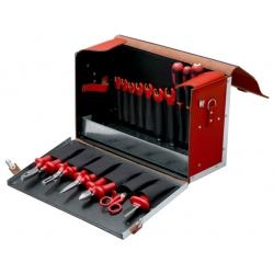 BAHCO Szigetelt villanyszerelő szerszámkészlet bőrtáskában, 19 részes