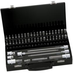 BAHCO Behajtóhegy készlet, 10mm-es, TX, XZN, Imbusz, 49részes