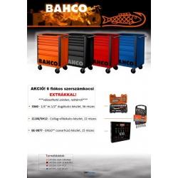BAHCO Prémium szerszámkocsi _FEKETE_ E72 line, üres, 6 fiókos EXTRA szerszámokkal!
