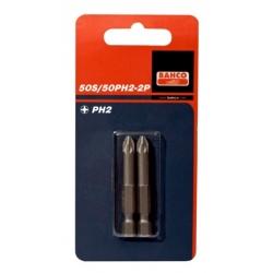 BAHCO Bliszteres csomagolású bitek, PH1, 50mm, 2 darabos