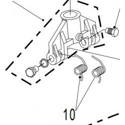 BAHCO CSEREALKATRÉSZ- pedálrugók -BH- krokodil emelőkhöz (BH11500 / BH12000 / BH13000)- 1 pár
