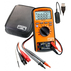 BAHCO Multimeter Digital, Auto Ranging, True Rms 1000v And Connecion To Pc