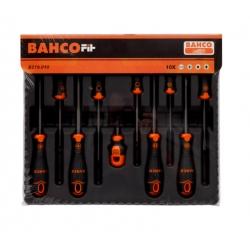 BAHCO Fit csavarhúzó készlet, Lapos/PH/PZ/Robertson, 10 részes