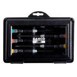 BAHCO Precízios csavarhúzó készlet, Lapos/PH/PZ, 7 részes