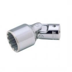 "BAHCO 1/4"" Csuklós dugókulcsfej, Bi-Hex profil, vékony falú, 12mm"