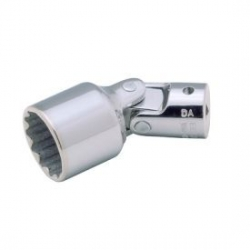 "BAHCO 1/4"" Csuklós dugókulcsfej, Bi-Hex profil, vékony falú, 6mm"