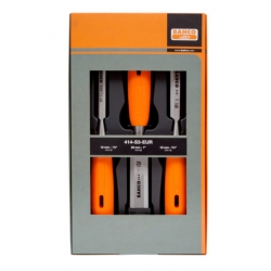 BAHCO 3 pcs Monomaterial polypropylene handle chisel set in cardboard box 12, 18, 25MM