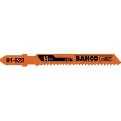 BAHCO Dekopír fűrészlap, HSS, Euro befogású, 77mm, TPI 24, 25db