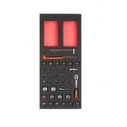 """BAHCO 1/3 Szerszámszivacs modul, 1/4"""" dugókulcs készlet, 37 részes"""