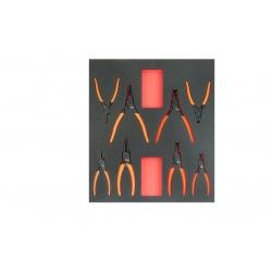 BAHCO 2/3 Szerszámszivacs modul, fogókészlet, 8 részes
