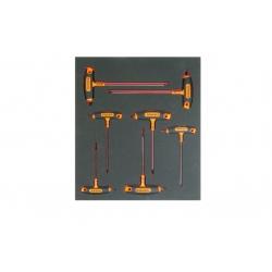 BAHCO 2/3 Szerszámszivacs modul, T-nyelű TORX® csavarhúzó készlet, 7 részes
