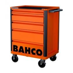 BAHCO 5 fiókos szerszámkocsi, karcálló porszórt felülettel, narancssárga (RAL-2009)