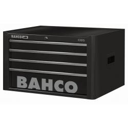BAHCO 4 Fiókos Felsőszekrény, C85 Classic sorozat, üres, FEKETE (RAL-9005)