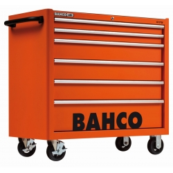 BAHCO C75 XXL szerszámkocsi, üres, 6 fiókkal, NARANCSSÁRGA (RAL-2009)