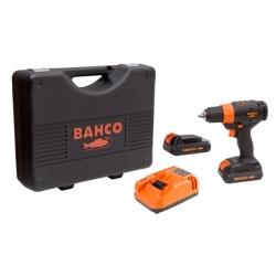 """BAHCO 1/2"""" Szénkefe nélküli akkus fúró készletben, 1570 Ford/perc, 18V"""