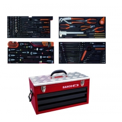 Bahco 1483KHD3RB-FF3 Metallic Case With 188 Tools | Storage| Straightset