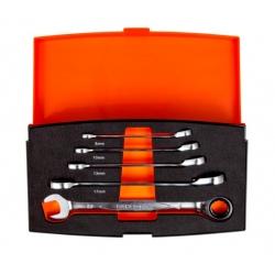 BAHCO Ratchet Combination Spanner Set, 5 pc