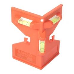 BAHCO Oszlopszintező, 3 libellás, 80x75x120mm, 109g