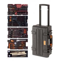 BAHCO Erősített gurulós koffer, teleszkópos fogantyúval, 194 részes feltöltéssel