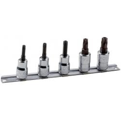 """BAHCO 3/8"""" dugókulcs készlet tartósínen, biztonsági TORX®, 5 részes"""