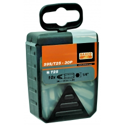 """BAHCO 1/4"""" Bitkészlet, TORX® T40, 25mm, 30 bit/doboz"""