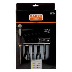 BAHCO ERGO™ csavarhúzó készlet, hornyolt és Phillips csavarokhoz, 6 részes