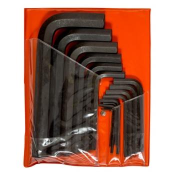 BAHCO Imbuszkulcs készlet, metrikus, fekete, 15 részes