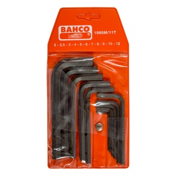 BAHCO Imbuszkulcs készlet, metrikus, fekete,11 részes