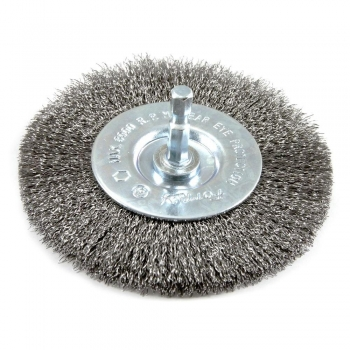 Wheel Brush D100x10 shank 6 crimped stainless steel wire 0,20 T22