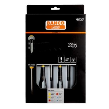 BAHCO ERGO™ csavarhúzó készlet, PH+PZ+Lapos, 6 részes