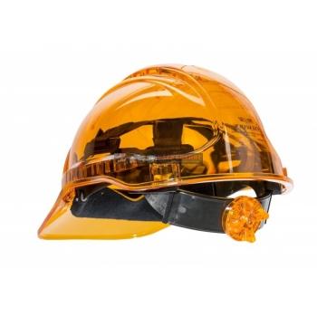 PORTWEST Védősisak PV50, átlátszó, használható: 7 év gyártástól, NARANCSSÁRGA