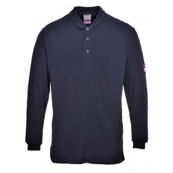 PORTWEST Lángálló teniszpóló (FR10) Szín: tengerészkék, Méret: L