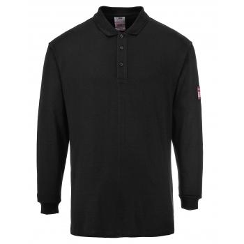 PORTWEST Lángálló teniszpóló (FR10) Szín: fekete, Méret: L