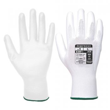 Védőkesztyű Poliamid/PU fehér 8-as M