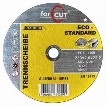 230*2,0*22,2 Vágókorong FORCUT Standard fém-inox