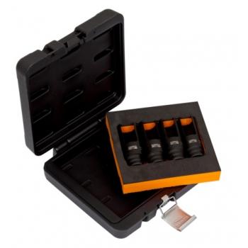 """BAHCO 1/2"""" Injektor kiszedő dugókulcs készlet, 25-27-29-30 mm"""