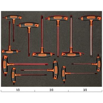 BAHCO 3/3 Szerszámösszeállítás: T-kulcs készlet, 12 részes