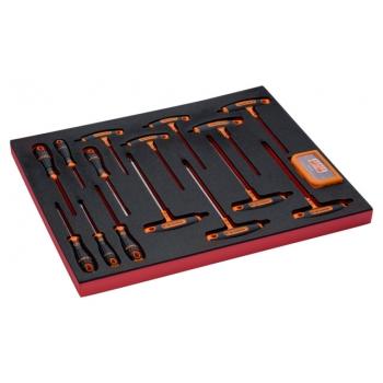BAHCO 3/3 Szerszámösszeállítás: Csavarhúzó és T-kulcs készlet, 46 részes