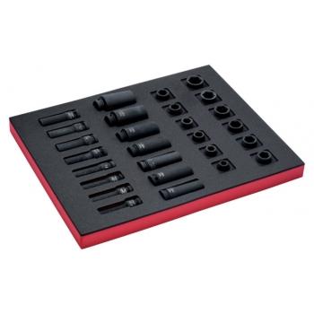 """BAHCO 2/3 Szerszámösszeállítás: 1/2""""-os erősített dugókulcsfejek , 27 részes"""