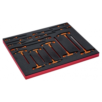 BAHCO 3/3 Szerszámösszeállítás: TORX® csavarhúzó és T-kulcs készlet, 17 részes