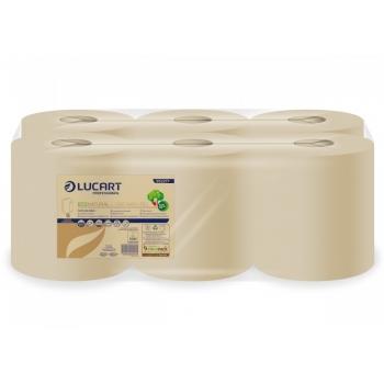 Kéztörlő papír tekercses 2R. Lucart L-One EcoNatural Maxi 450,lap/tek. 6tekercs/karton