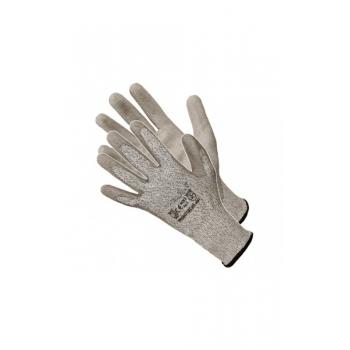 Vágásbiztos védőkesztyű PU tenyérmártott Cut 5, Szín: szürke, Méret: XL/10