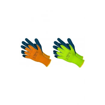 Védőkesztyű Wlatex téli bélelt, Szín: sárga / kék, Méret: XL, 2.1.4.2.X