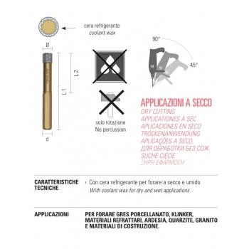 """ECEF Gyémántfúró száraz 10mm 3/8"""","""