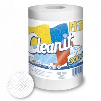 Kéztörlő papír tekercses 2R. hófehér Cleanit 300, 300lap/tek. 6tekercs/karton