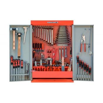 BAHCO 2 ajtós fali szekrény, 109db szerszámmal (981001100)