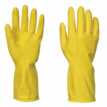 Háztartási latex kesztyű sárga, Méret: M