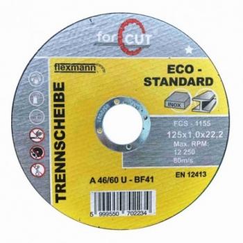 125*1 Vágókorong FOR CUT Standard fém-inox